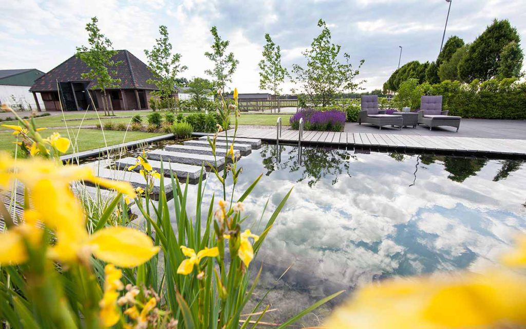 grote tuin aanleg vijver