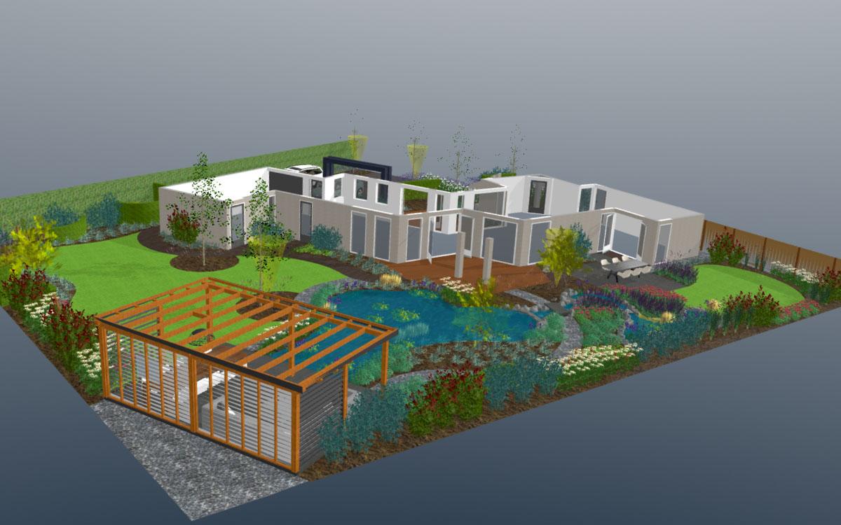 3d tuinontwerp laat een 3d tuin ontwerp maken bij de