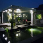De Groot Hoveniers Moderne Tuinen buitenkamer overkapping