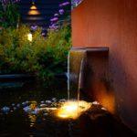 Verlicht waterelement