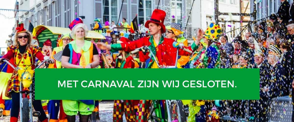 Gesloten met Carnaval