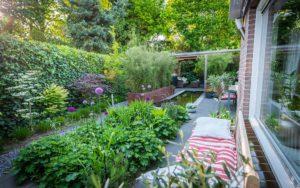 Moderne tuin waterelement