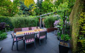 Moderne tuin terras